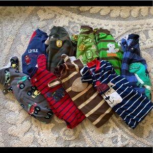 9 Carters Blanket/Fleece Sleepers 18 months